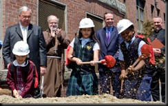 Groundbreaking of John Paul II Catholic Academy at the school's Columbia Campus (formerly St. Margaret's School), May 5, 2008.<br /><br /> Pilot photo/ Gregory L. Tracy